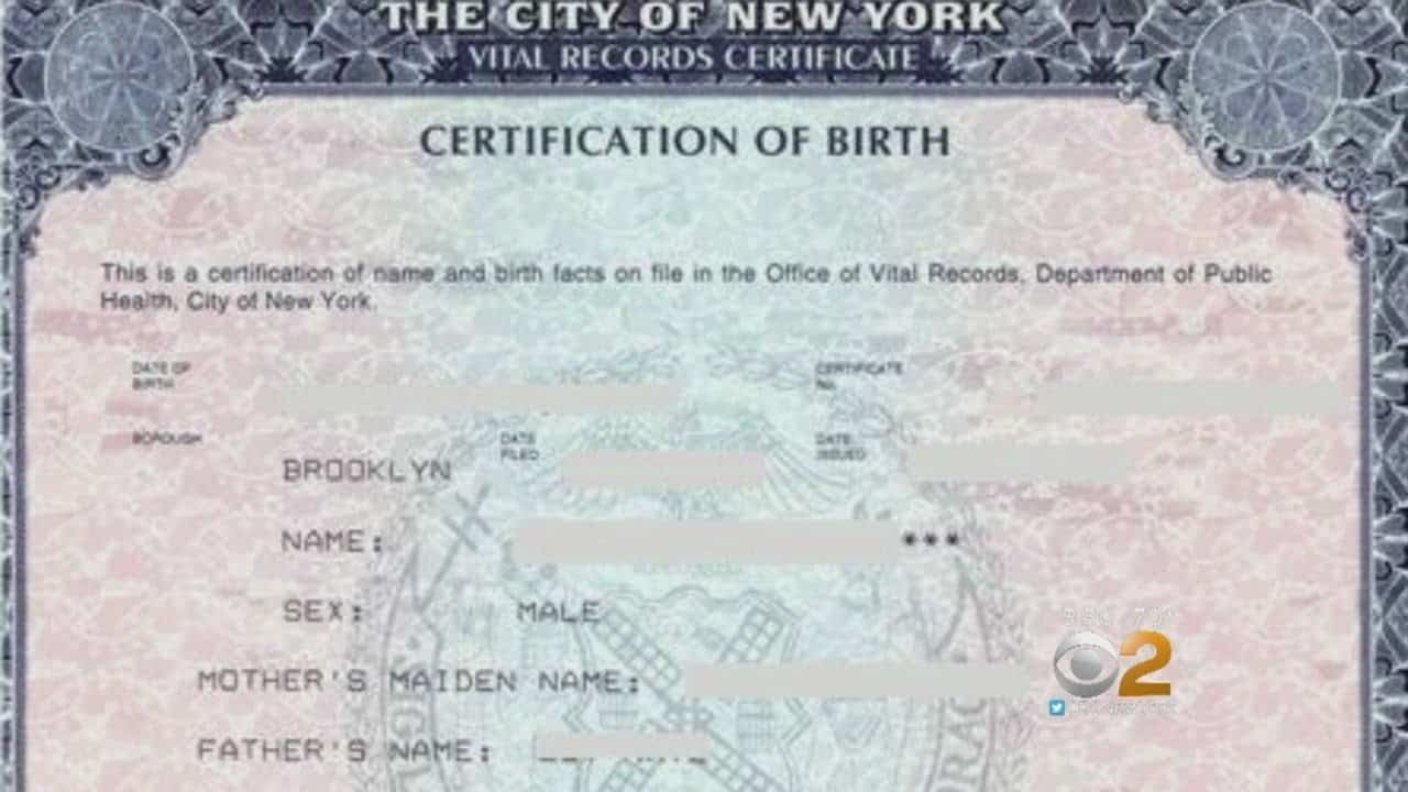 a new birth certificate in the